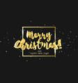 gold glitter christmas lettering design in 3d vector image