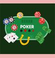 green poker table vector image