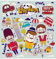 London travel elements vector image