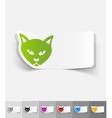 realistic design element cat vector image