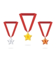 Star medal vector image