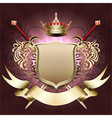 The shield with crown vector image