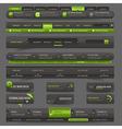 Web site design template navigation elements vector image
