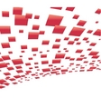 vector background with red squares vector image