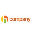 Modern chair logo vector image