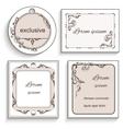 Set of vintage ornament frame labels vector image
