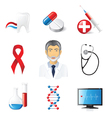 9 highly detailed medical icons set vector image