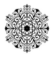 Black Forged Round Ornament vector image