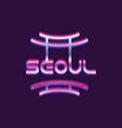 creative seoul city logo south korea landmark vector image