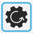 Gear Rotation Icon In a Frame vector image