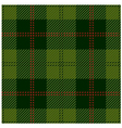 Green Tartan Cloth Design vector image