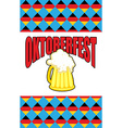 Mug of beer for Oktoberfest Character Beer vector image