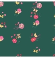 Seamless Vintage Wildflowers Pattern vector image