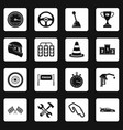 racing speed icons set squares vector image