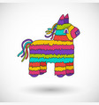 Pinata icon with round shadow vector image