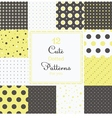 Cute different seamless patterns vector image vector image