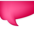 Abstract speech bubble  EPS8 vector image vector image