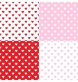 Valentines seamless patterns vector image