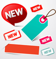 New and Empty Paper Labels Set Isolated on Light vector image vector image