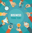 business and management concept in flat style vector image vector image