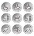 Disability Icons vector image vector image