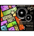 retro disco party vector image vector image