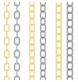 metallic chain vector image