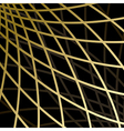 black background with gold grid vector image