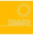 a linear design summer sun vector image