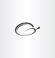 chicken icon black symbol design vector image