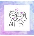 groom and bride vector image