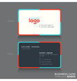 Modern simple business card design template vector image