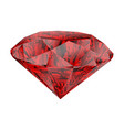 realistic red ruby isolated on white background vector image