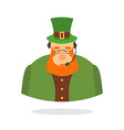 Saint Patrick call center leprechaun and headset vector image