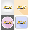 truck flat icons 09 vector image