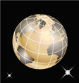 Golden planet earth vector image vector image