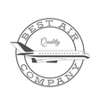 Best air company retro label vector image