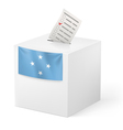 Ballot box with voting paper Federated States of vector image vector image