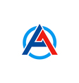 A letter business construction symbol logo vector image vector image