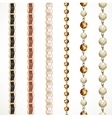 Chain belt with variations of color and a chain of vector image vector image