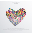 mosaic hearts flat background vector image