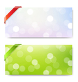 Banner With Ribbon And Bokeh vector image