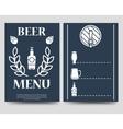 Beer brochure flyer template vector image
