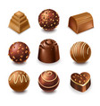 chocolate candies and comfits sweets 3d vector image