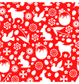 easter pattern red vector image