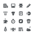 Home office icon set vector image