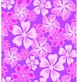 Lilac background with pink flowers vector image