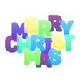 Merry Christmas multicolor lettering vector image