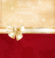 Romantic Gold Ribbon Background vector image