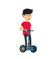 self balancing electric scooter vector image